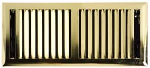 No. 9 - Brass Plated Floor Grilles