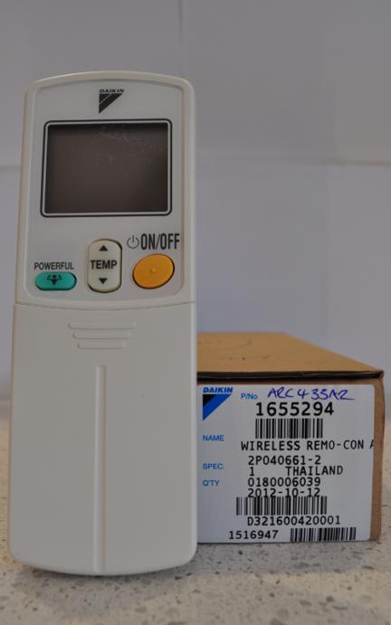 Daikin ARC433A2 Remote control