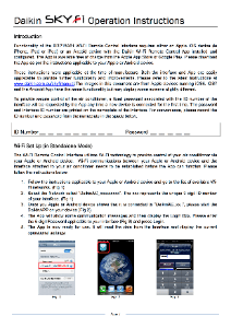 Daikin SkyFi Installation Instructions