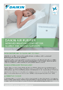 Daikin air purifier flyer July 2013 - MC70LPVM